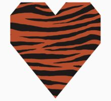 0082 Burnt Orange Tiger Kids Tee