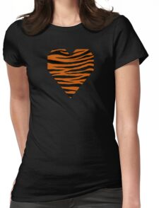 0082 Burnt Orange Tiger Womens Fitted T-Shirt