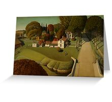 Grant Wood - Birthplace Of Herbert Hoover. Landscape Greeting Card