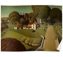 Grant Wood - Birthplace Of Herbert Hoover Poster