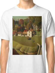 Grant Wood - Birthplace Of Herbert Hoover. Landscape Classic T-Shirt