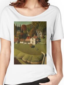 Grant Wood - Birthplace Of Herbert Hoover. Landscape Women's Relaxed Fit T-Shirt