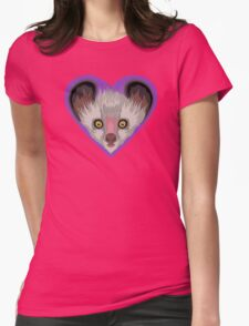 LOVE: Lemurs (Aye-Aye) Womens Fitted T-Shirt