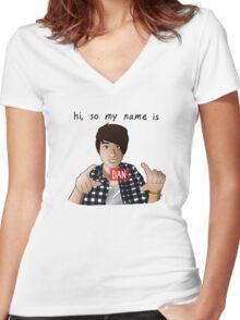 danisnotonfire - Hello Internet Women's Fitted V-Neck T-Shirt