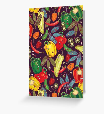 Hot & spicy! Greeting Card