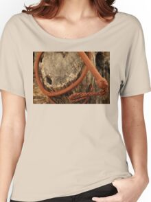 Bullwhip on Tree Trunk Women's Relaxed Fit T-Shirt