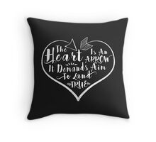 The Heart Is An Arrow | Six of Crows Throw Pillow