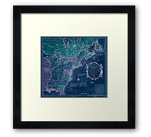 American Revolutionary War Era Maps 1750-1786 350 Bowles's new pocket map of the United States of America the British possessions of Canada Nova Scotia and Inverted Framed Print