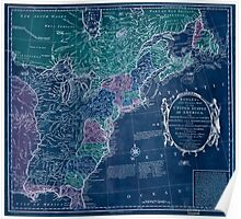American Revolutionary War Era Maps 1750-1786 350 Bowles's new pocket map of the United States of America the British possessions of Canada Nova Scotia and Inverted Poster