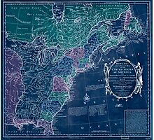 American Revolutionary War Era Maps 1750-1786 350 Bowles's new pocket map of the United States of America the British possessions of Canada Nova Scotia and Inverted Photographic Print