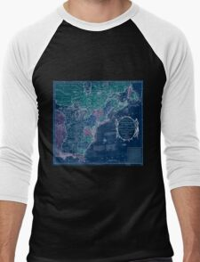 American Revolutionary War Era Maps 1750-1786 350 Bowles's new pocket map of the United States of America the British possessions of Canada Nova Scotia and Inverted Men's Baseball ¾ T-Shirt