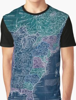 American Revolutionary War Era Maps 1750-1786 350 Bowles's new pocket map of the United States of America the British possessions of Canada Nova Scotia and Inverted Graphic T-Shirt