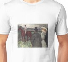 Henri De Toulouse Lautrec - At The Racecourse Unisex T-Shirt