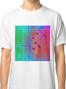 Wall flower with textured colour enhanced  Classic T-Shirt