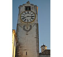 Old Church Clock Tower Photographic Print