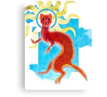 Enlightenment Weasel Canvas Print