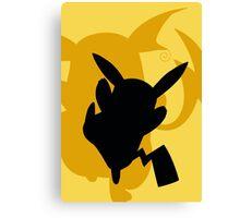 Pokemon- Pikachu and Riachu Canvas Print