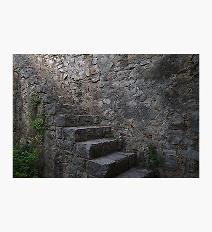 Medieval Wall Staircase Photographic Print