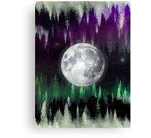 Dreaming under the northern lights Canvas Print