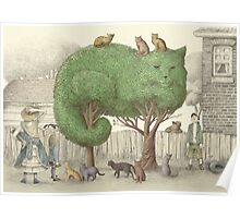 The Night Gardener - Cat Tree  Poster
