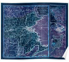 American Revolutionary War Era Maps 1750-1786 940 The Seat of war in New England by an American volunteer with the marches of the several corps sent by the Inverted Poster