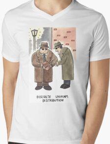 Discrete Uniform Distribution - Maths Pun Watercolour Card Mens V-Neck T-Shirt