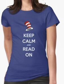 READ ACROSS AMERICA DAY - Keep Calm and Read On Womens Fitted T-Shirt