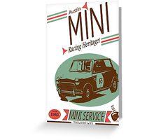 Austin Mini Retro Style Greeting Card