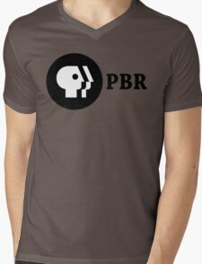 PBR (PBS Parody) Mens V-Neck T-Shirt