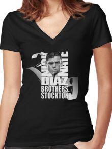 Diaz bros 209 stockton Women's Fitted V-Neck T-Shirt
