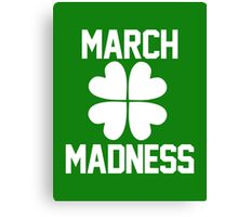 March Madness - St. Patrick's Day Canvas Print