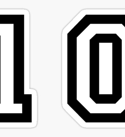 Number Ten Sticker