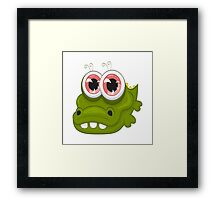 Funny crocodile Framed Print