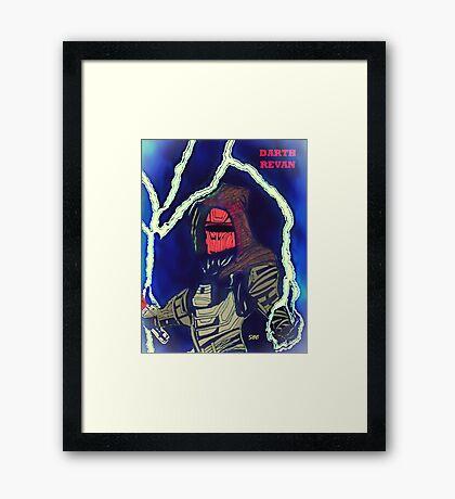 Darth Revan - Dark Lord  Framed Print
