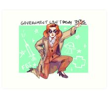 Government Rebels: The Scientist Art Print