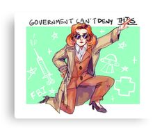Government Rebels: The Scientist Canvas Print