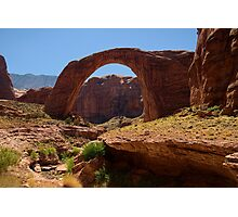 The Rainbow Turned to Stone ~ Rainbow Bridge Photographic Print