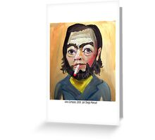 Julio Cortazar by Diego Manuel Greeting Card
