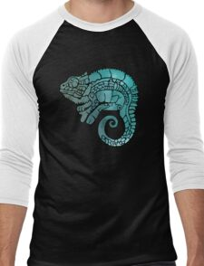 Chameleon in ethnic decorative ornamental manner Men's Baseball ¾ T-Shirt