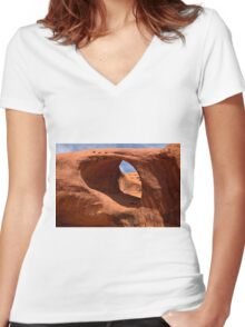 The Eye of the Needle  Women's Fitted V-Neck T-Shirt