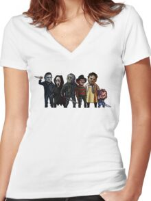 Slasher Squad Women's Fitted V-Neck T-Shirt
