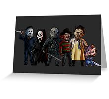 Slasher Squad Greeting Card