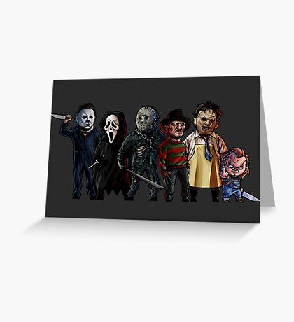 Slasher Squad Greeting Card