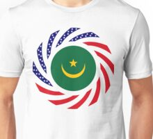 Mauritanian American Multinational Patriot Flag Series Unisex T-Shirt