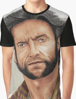Hugh Jackman, the Man called Logan (aka The Wolverine) Graphic T-Shirt