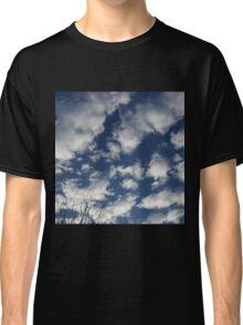 Blue sky happy clouds Classic T-Shirt