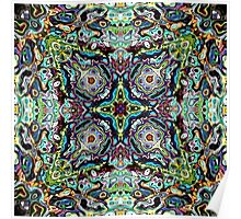 Abstract Spectral Mandala Poster