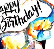 Happy Birthday Elephant Sticker