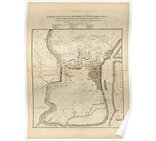 American Revolutionary War Era Maps 1750-1786 220 A plan of the city and environs of Philadelphia with the works and encampments of His Majesty's forces under Poster