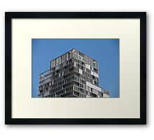 modern house with loggias Framed Print